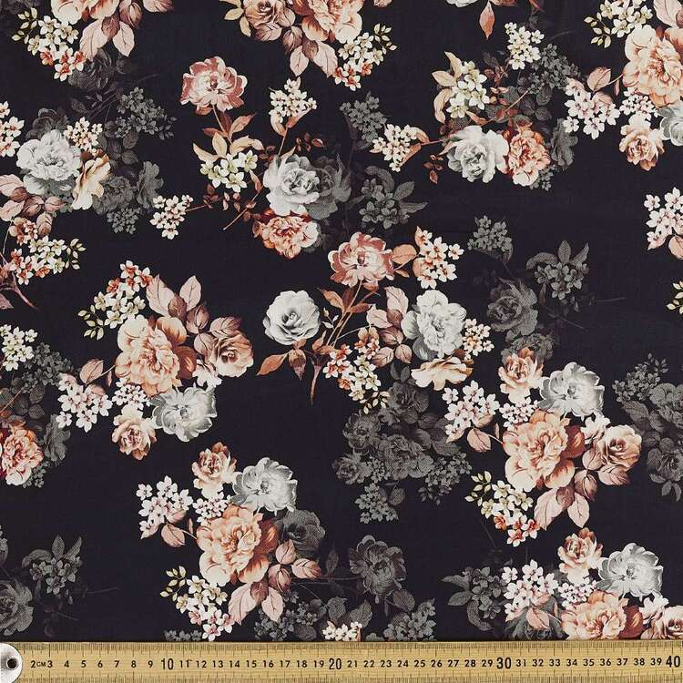 Antique Charm Digital Printed 142 cm Combed Cotton Sateen Fabric