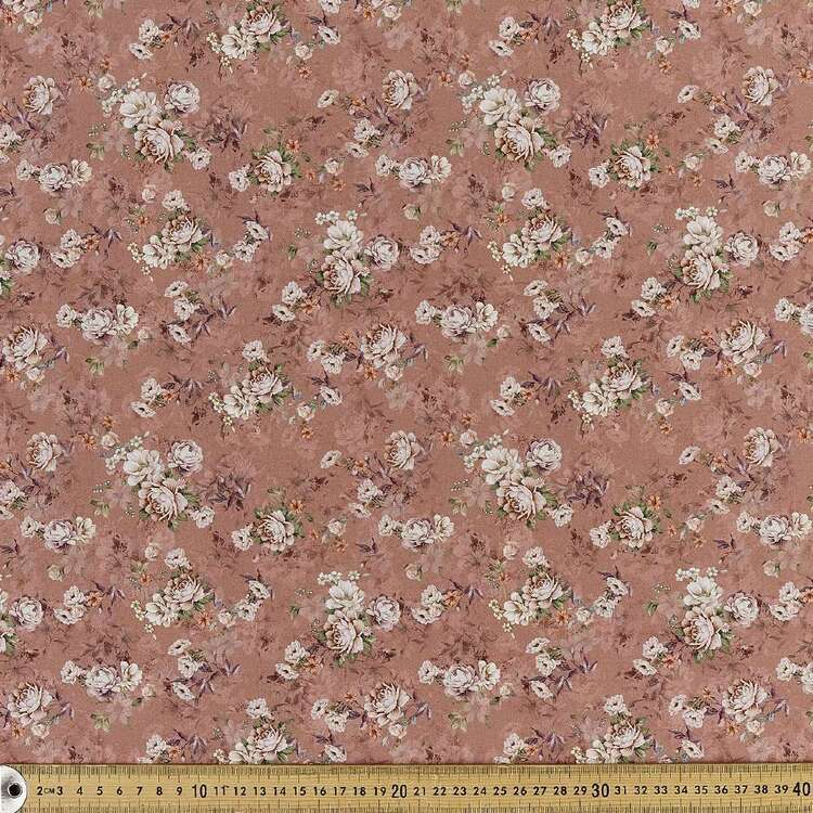 Just Rosy Digital Printed 142 cm Combed Cotton Sateen Fabric