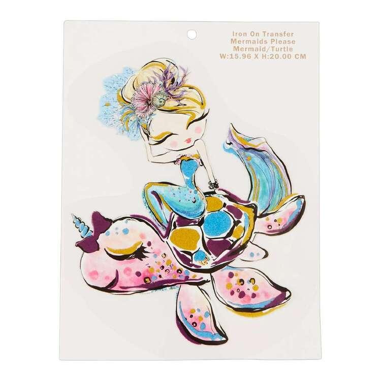 Karamfila Mermaids Please Mermaid & Turtle Transfer
