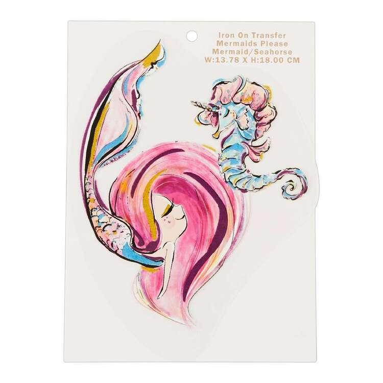 Karamfila Mermaids Please Mermaid & Seahorse Transfer