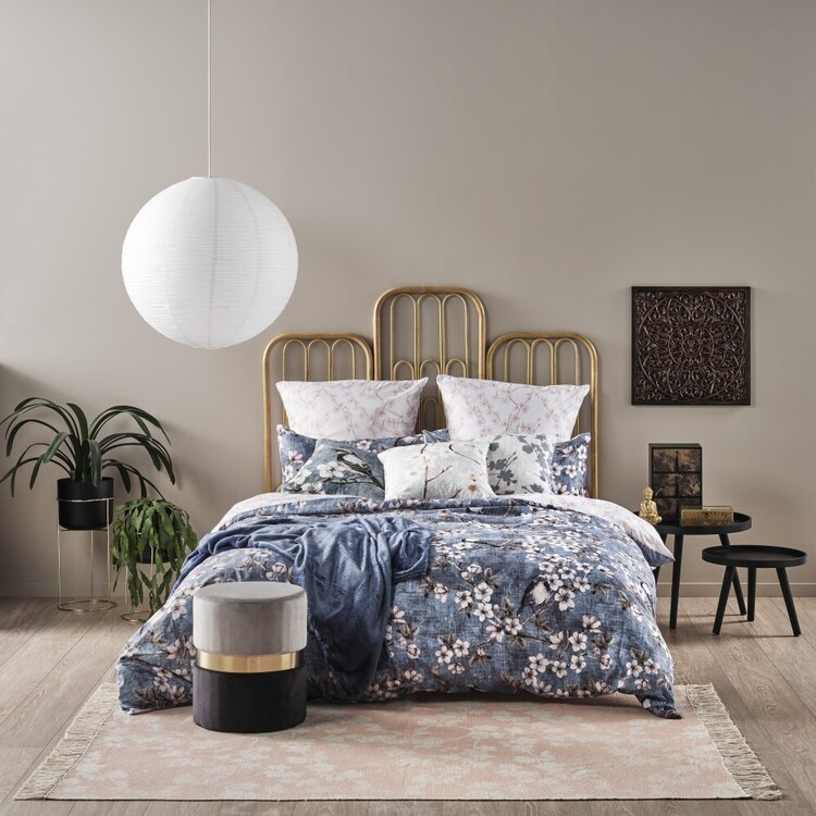 Ombre Home Bloom Fields Magnolia Quilt Cover Set