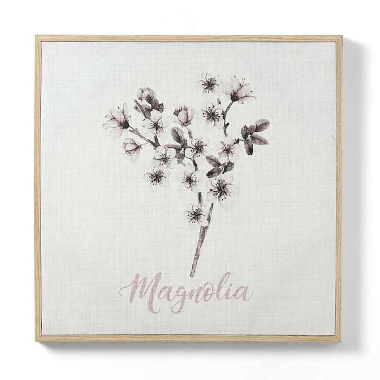 Ombre Home Bloom Fields Magnolia Framed Canvas