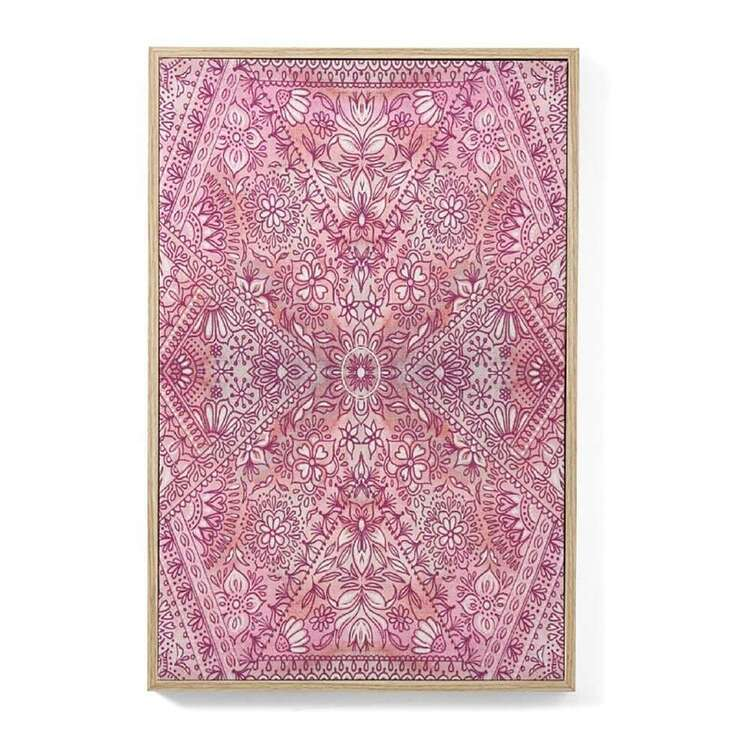 Ombre Home Bloom Fields Bandana Framed Canvas