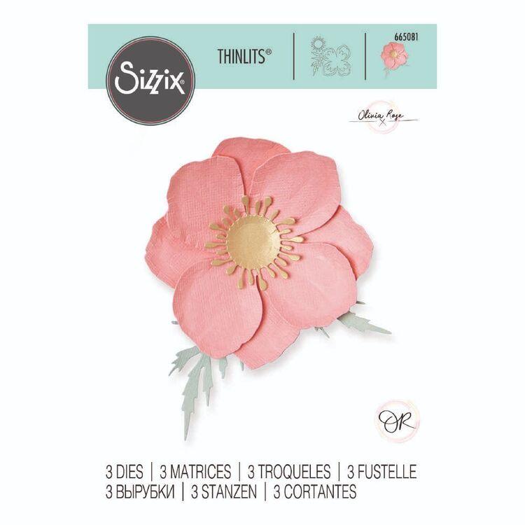 Sizzix Thinlits 3 Packs Iceland Poppy Die Set