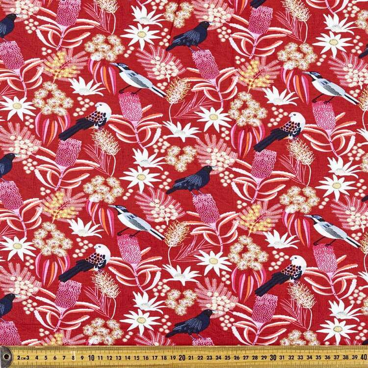 Jocelyn Proust Flora Bird Printed 148 cm Rayon Elastane Knit Fabric