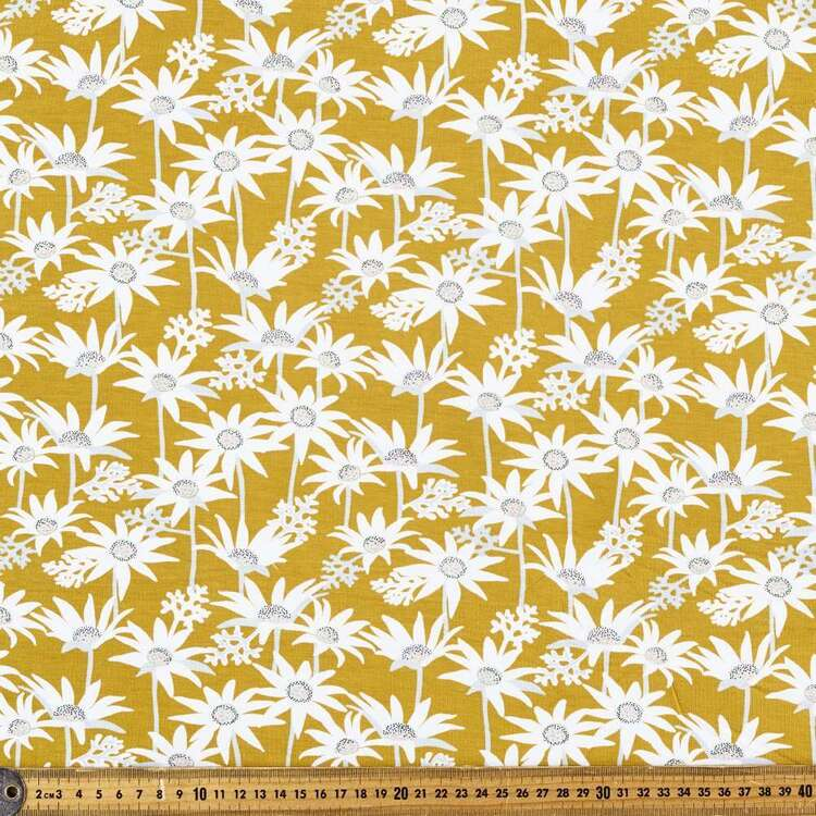 Jocelyn Proust Native Flower Printed 148 cm Rayon Elastane Knit Fabric