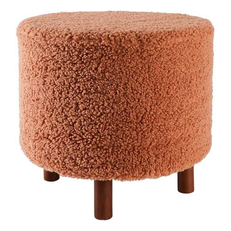 Koo Molly Faux Fur Footstool