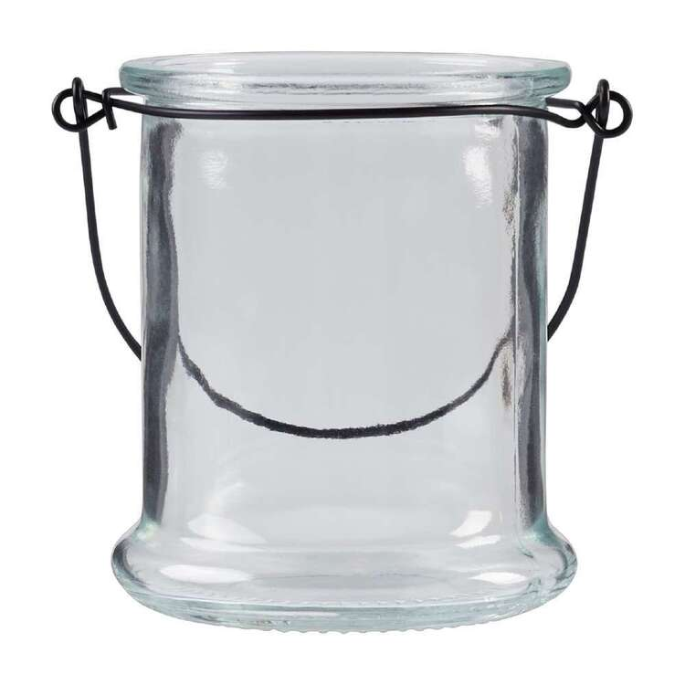 Living Space Glass Candle Holder With Handle