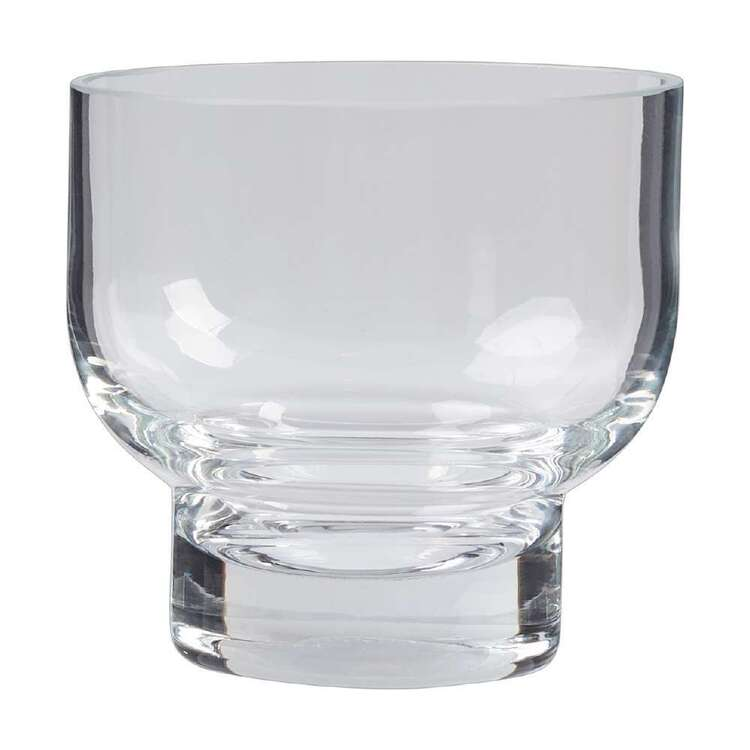 Living Space 9 cm Glass Candle Holder Clear 9 cm