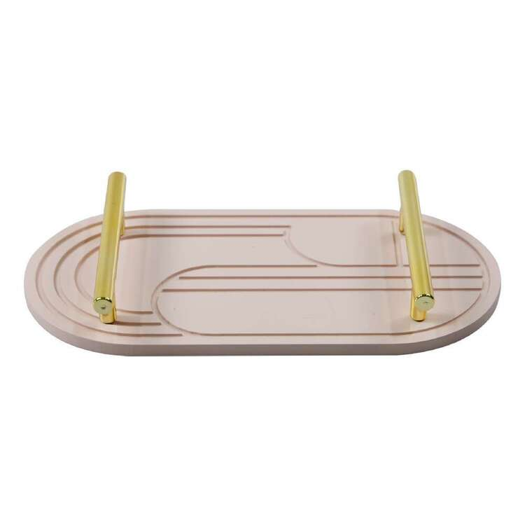 Ombre Home Bloom Fields Oval Tray With Gold Handles