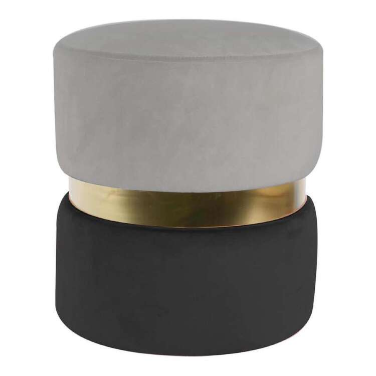 Ombre Home Bloom Fields Velvet Ottoman With Gold Band