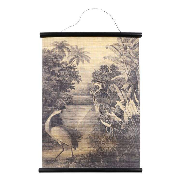 Ombre Home Bloom Fields Crane In Forest Wall Hanging