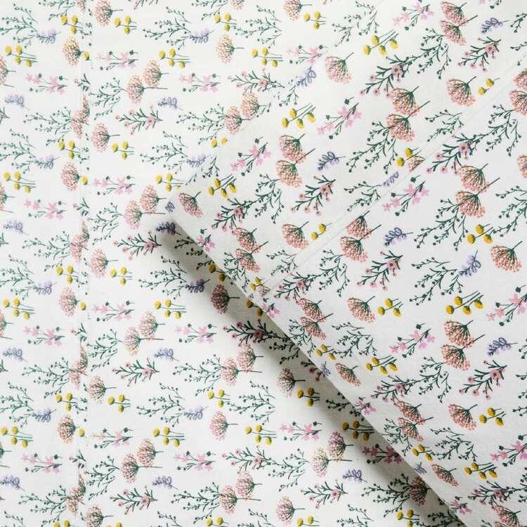 KOO Flannelette Flower Sheet Set