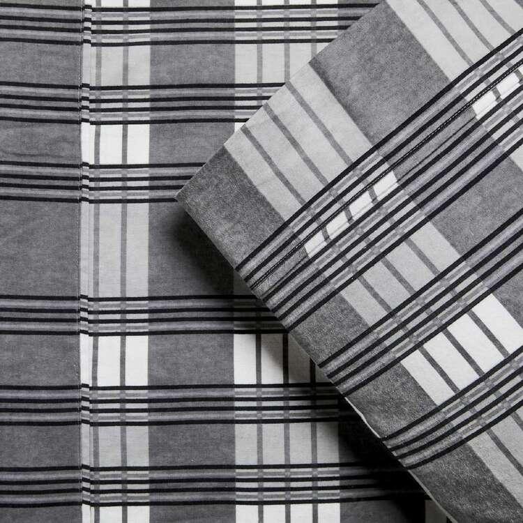 KOO Flannelette Grid Sheet Set