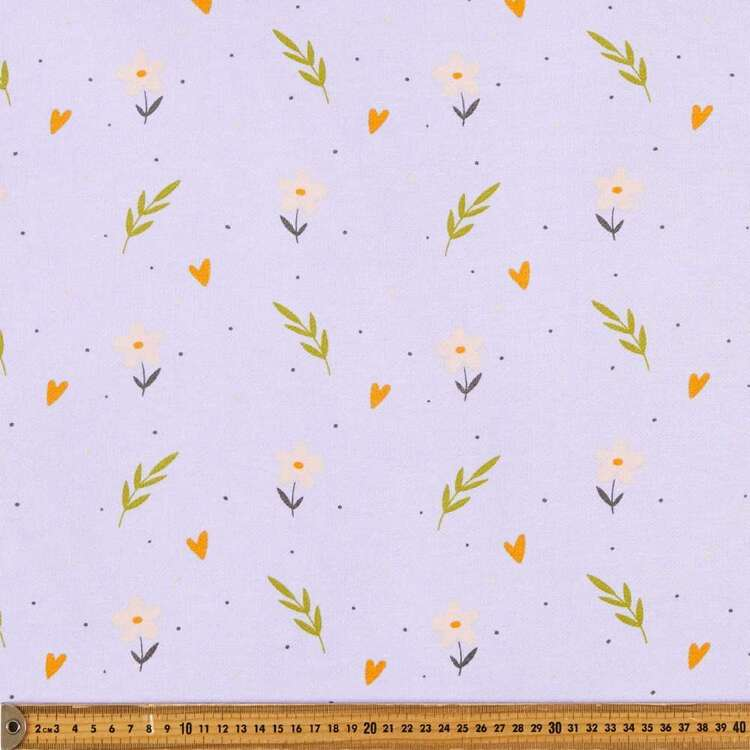 Flowers Printed 148 cm French Terry Fleece Fabric