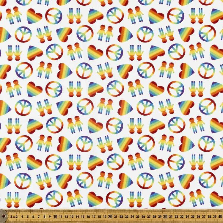 Peace Love & Pride Cotton Fabric