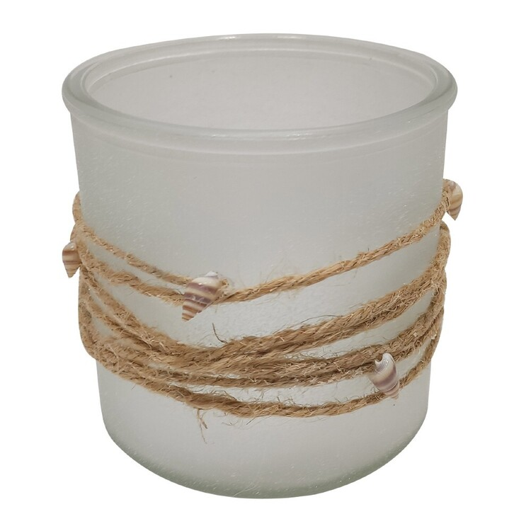 Ombre Home Weathered Coastal Rope Candle Holder