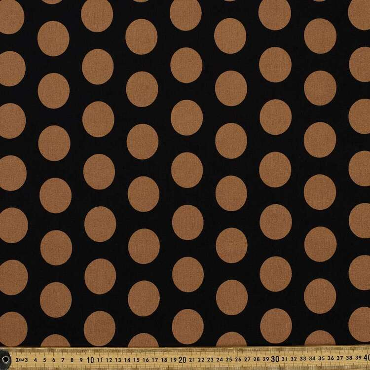 Spot Printed 145 cm Bengaline Suiting Fabric