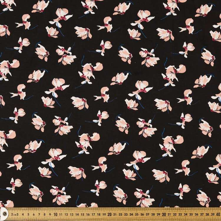 Falling Blossom Printed 148 cm Cotton Spandex Fabric