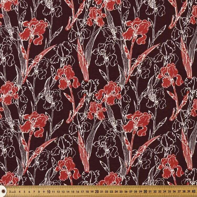 Lilium Printed 148 cm Cotton Spandex Fabric