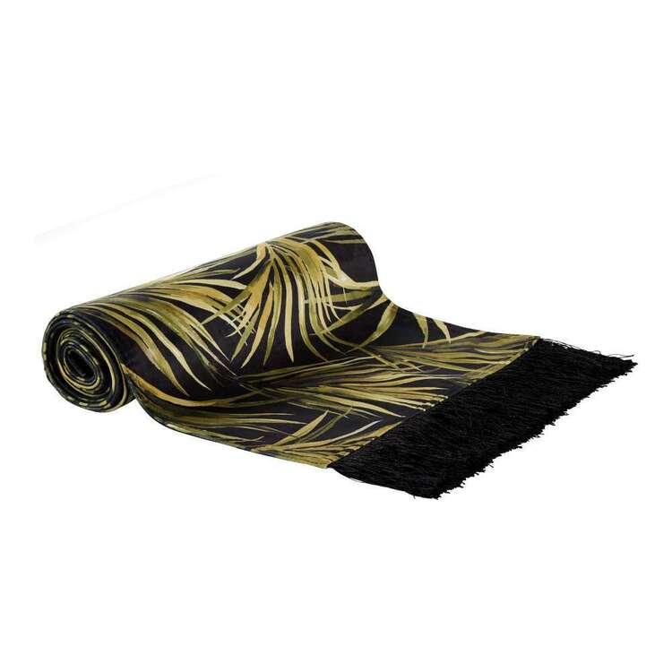 Koo Palms Printed Velvet Table Runner