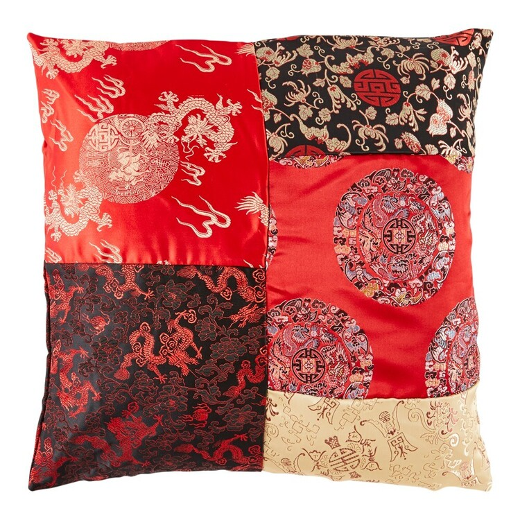 Ming Square Patchwork Cushion