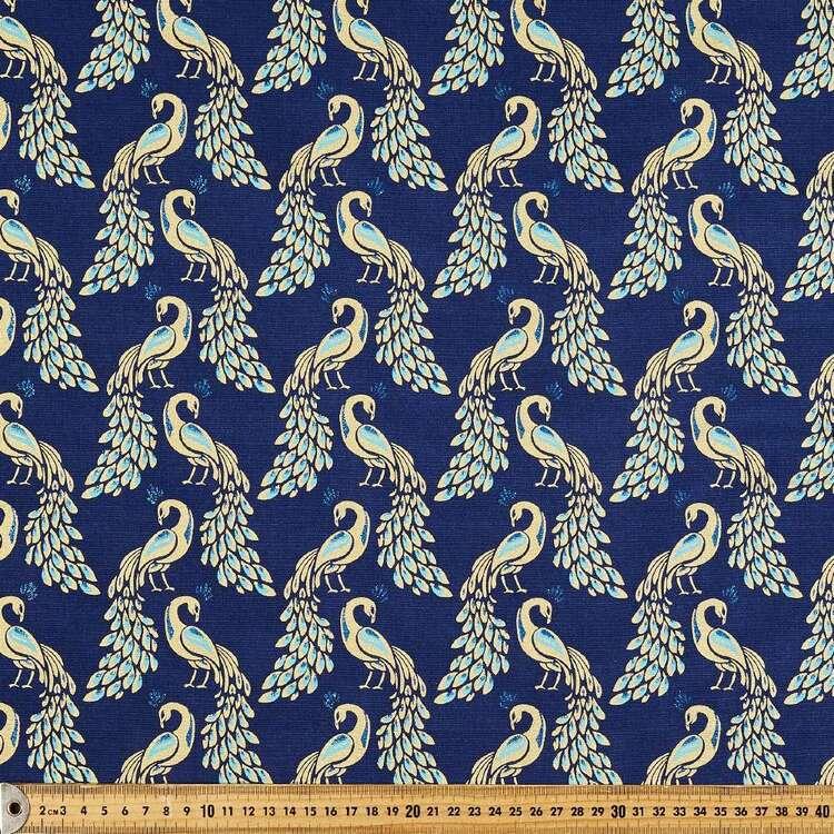 Peacock Printed 112 cm Buzoku Cotton Duck Fabric