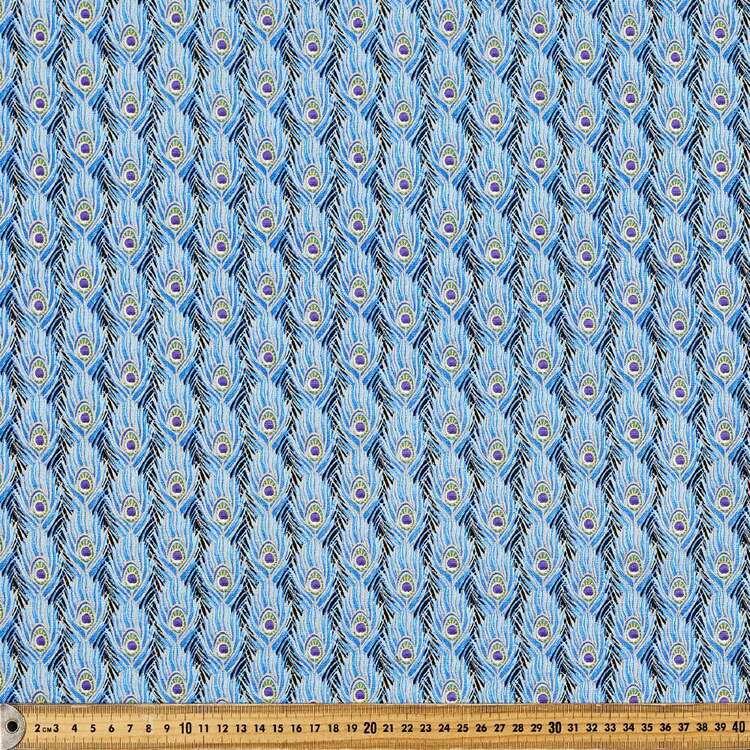 Peacock Pride Printed 112 cm Buzoku Cotton Duck Fabric