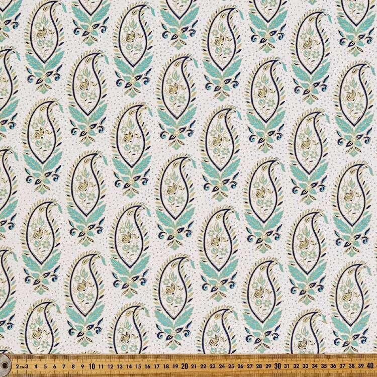 Paisley Printed 112 cm Buzoku Cotton Duck Fabric