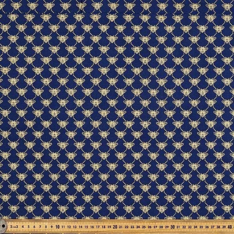 Bee Parade Printed 112 cm Buzoku Cotton Duck Fabric