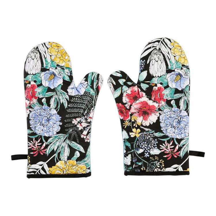 Kitchen by Ladelle Flora Meadow Oven Glove 2 Pack