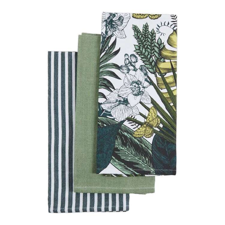 Kitchen By Ladelle Rainforest Mate Printed Tea Towel