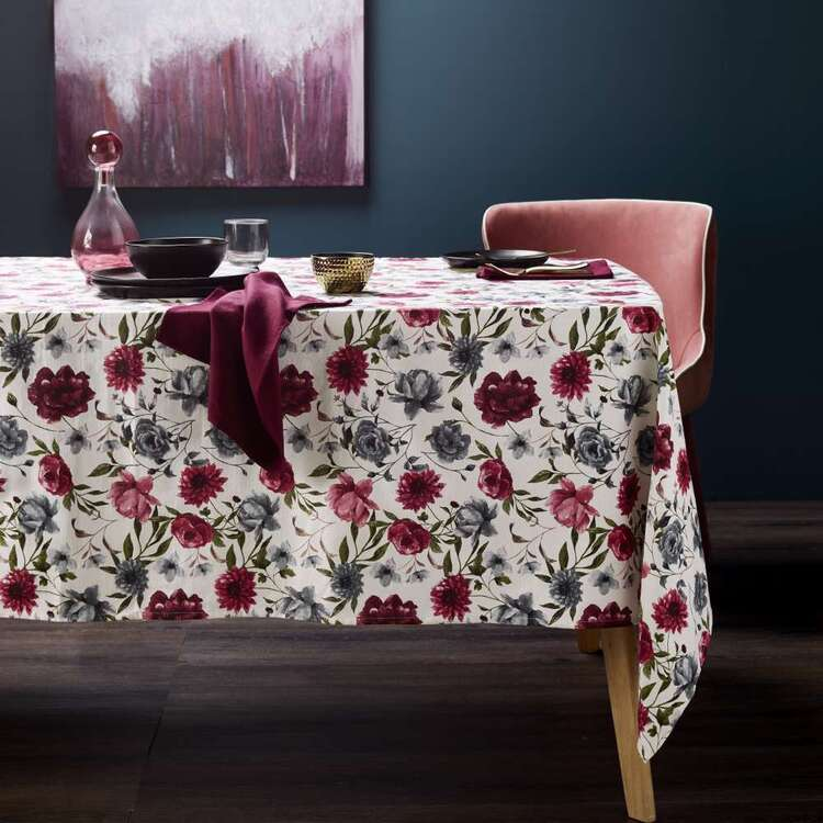 Dine By Ladelle Vintage Floral Tablecloth