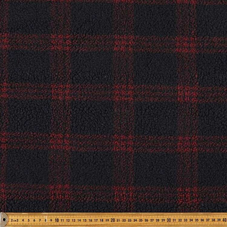 Lumberjack Printed 145 cm Sherpa Faux Fur Fabric