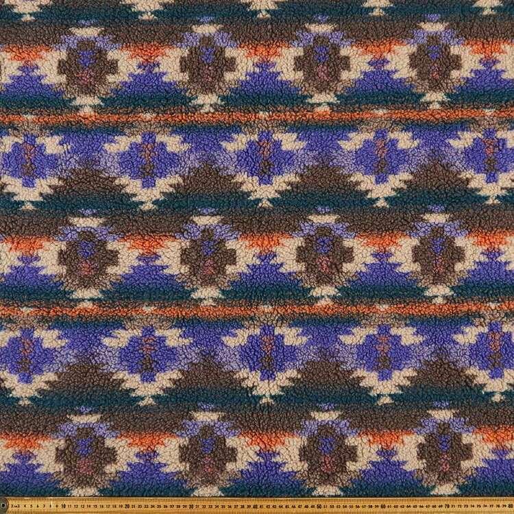 Placid Printed 145 cm Sherpa Faux Fur Fabric