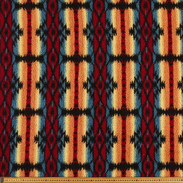 Desert Printed 145 cm Sherpa Faux Fur Fabric