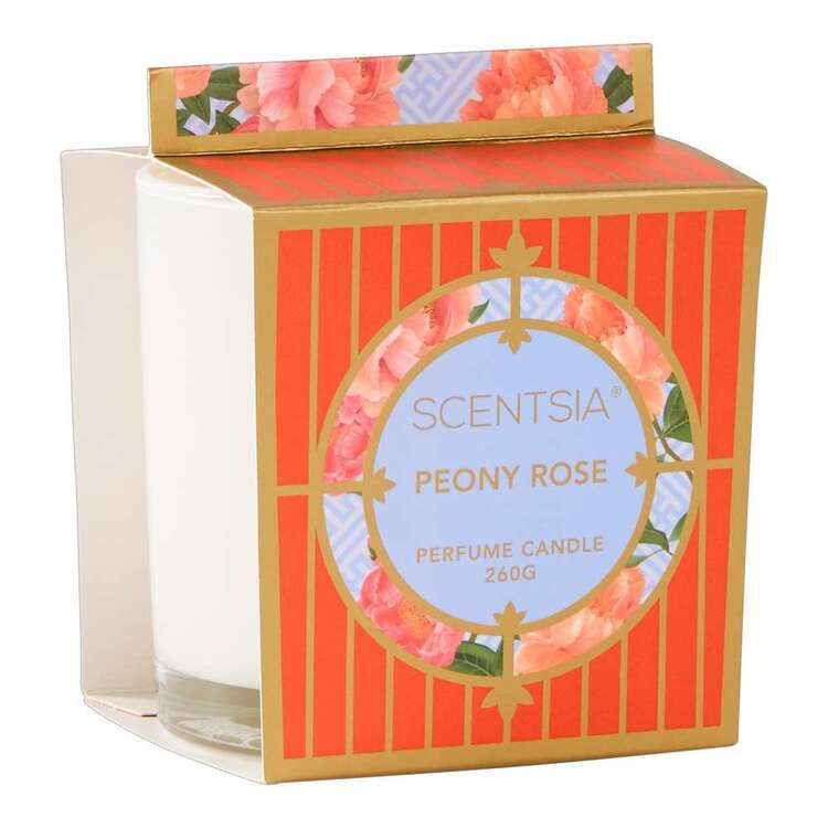 Scentsia Oriental Fusion Peony Rose Scented Candle Jar