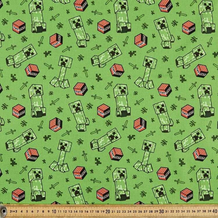 Minecraft Creeper Allover Cotton Fabric