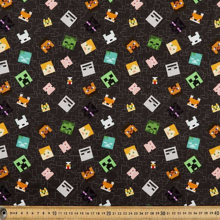 Minecraft Characters Allover Cotton Fabric