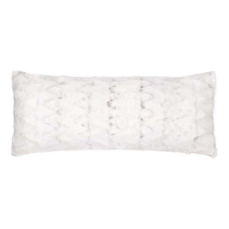 Bouclair Fur Statement Hare Lumbar Cushion