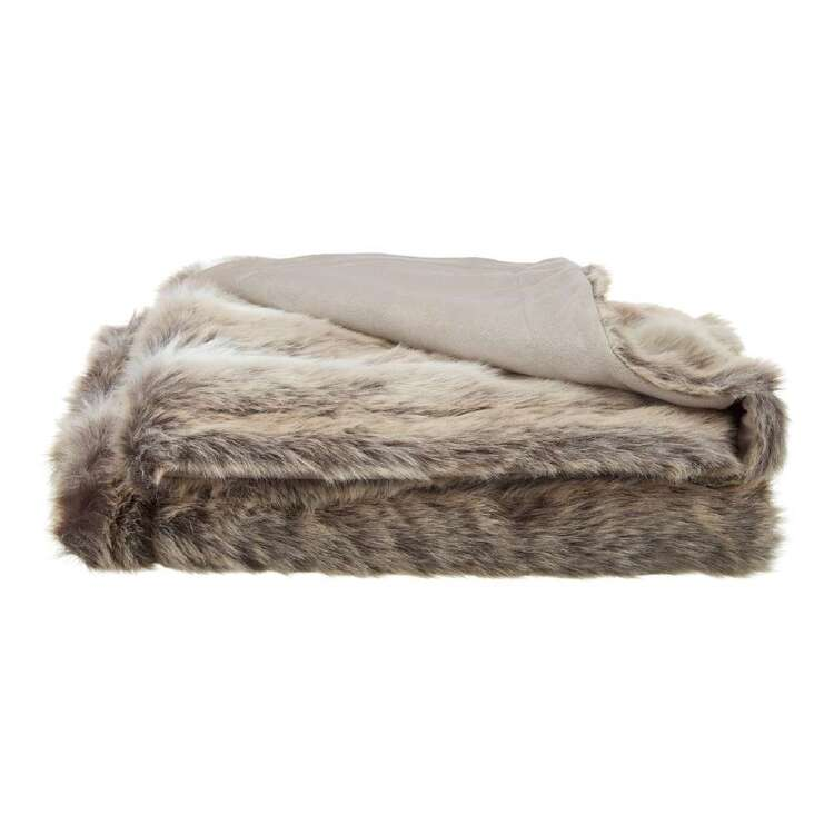 Bouclair Fur Statement Deer Throw