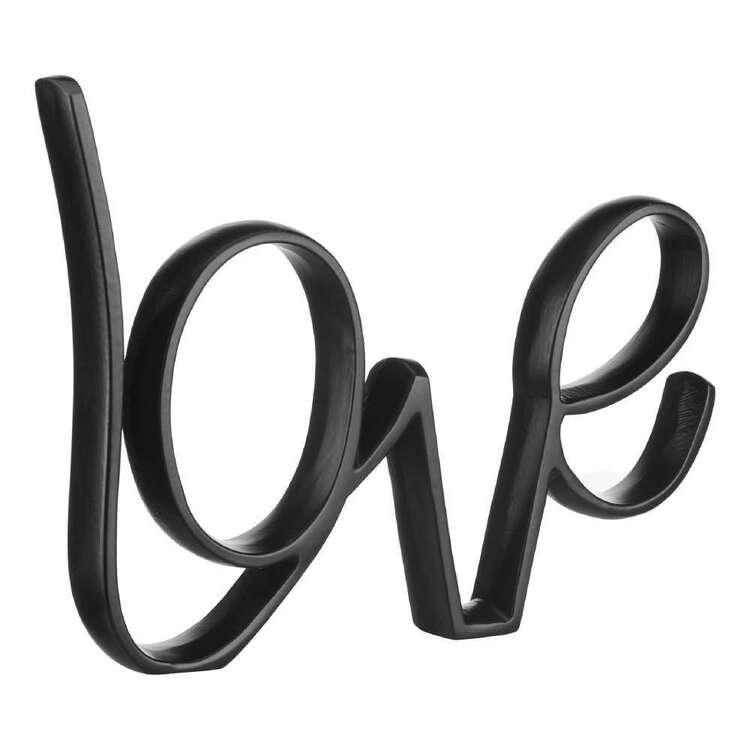 Bouclair Fur Statement Love Typo Sign