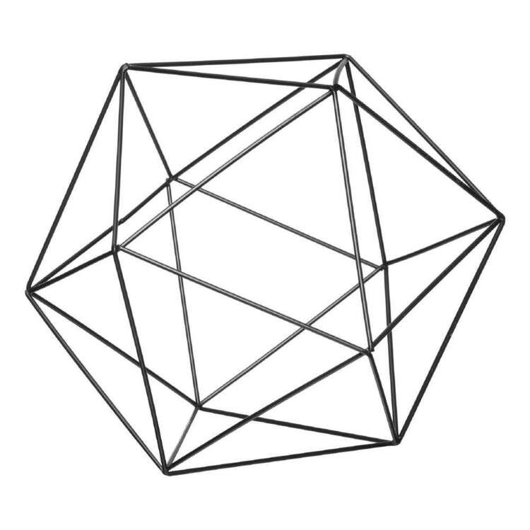 Bouclair Fur Statement Geometric Decorative Ball