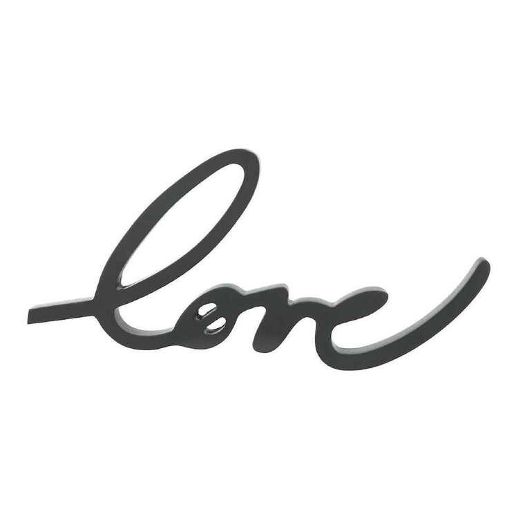 Bouclair Fur Statement Love Sign