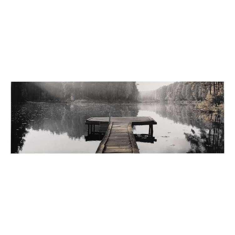 Bouclair Fur Statement Calm Lake Canvas Print