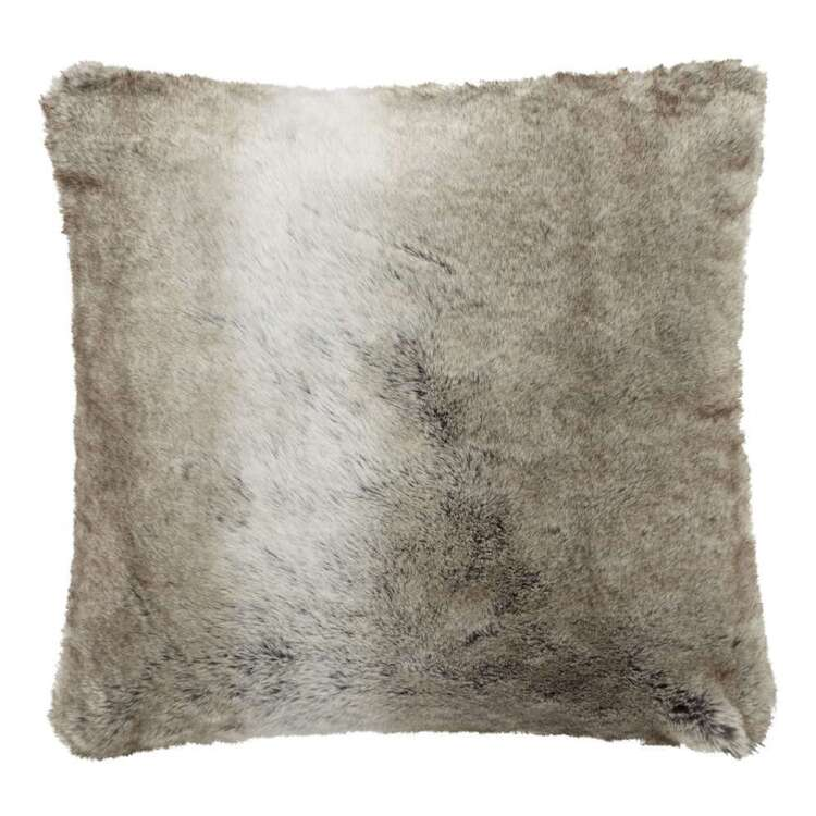 Bouclair Fur Statement Wolf Cushion