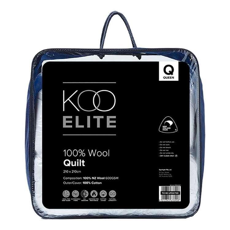 KOO Elite NZ Wool 600 gsm Quilt