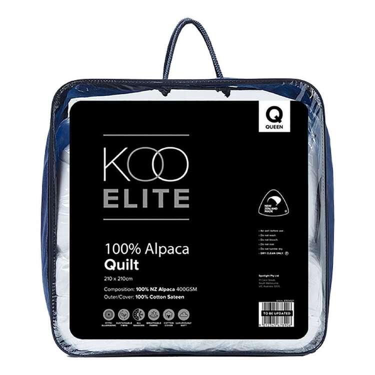 KOO Elite 400gsm NZ Alpaca Duvet Inner
