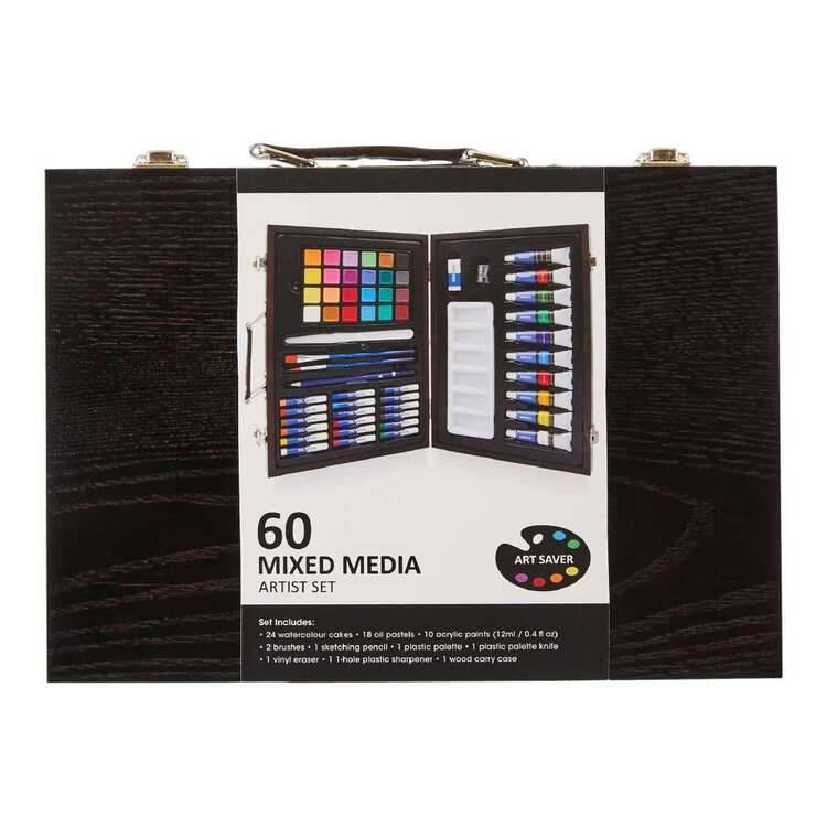 Art Saver 60 Piece Mixed Media Artist Set