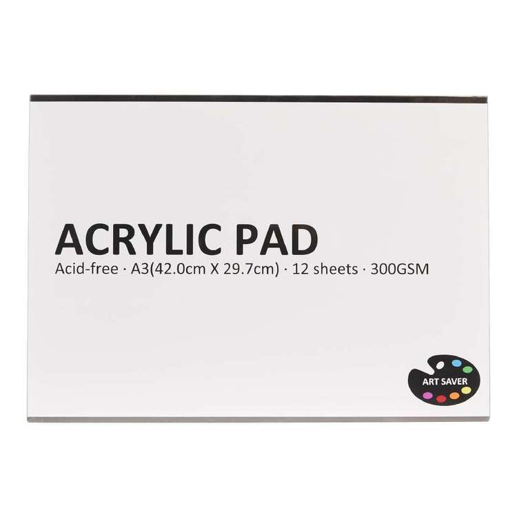 Art Saver A3 300 gsm 12 Sheet Acrylic Pad